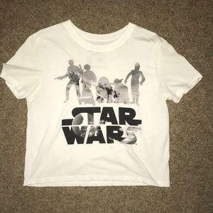 Cropped Star Wars T